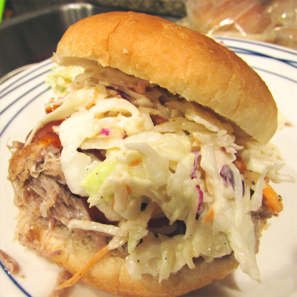 BBQ Sandwich with Slaw