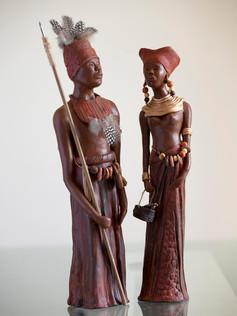 N°53 et 54 Couple Kuba (congo)