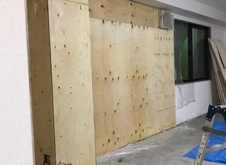 ラーチ合板の板壁DIY②
