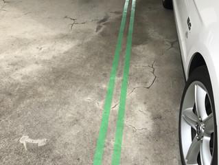 駐車場線引き