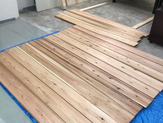 板壁DIY ①〜下準備、塗装〜