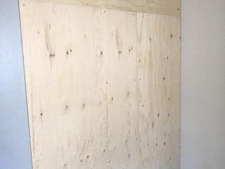 ラーチ合板の板壁DIY①