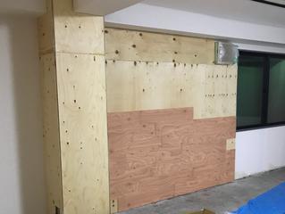 ラーチ合板の板壁DIY③