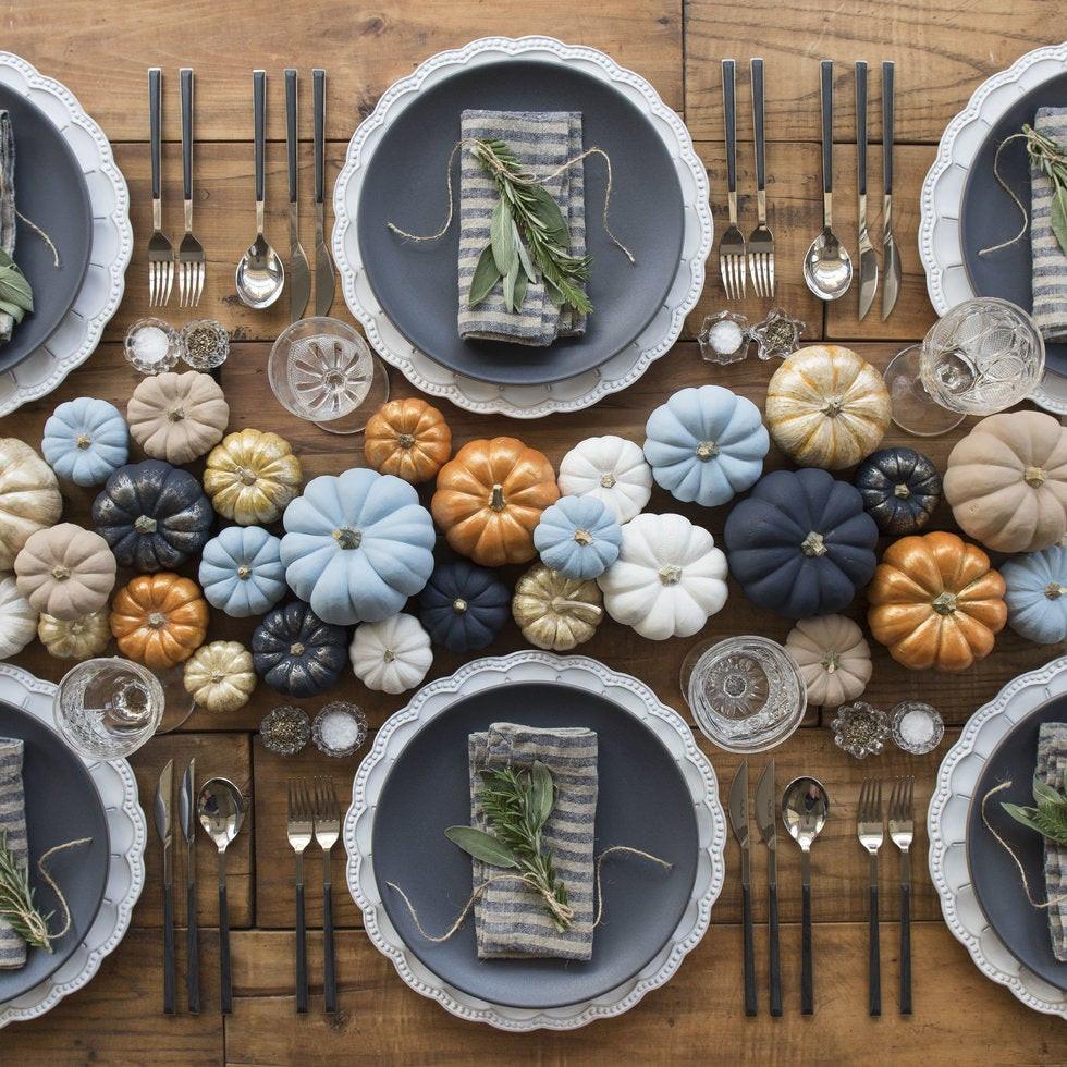 Mesa decorada con detalles para Thanks Giving