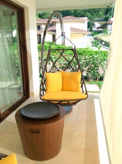Terraza y silla