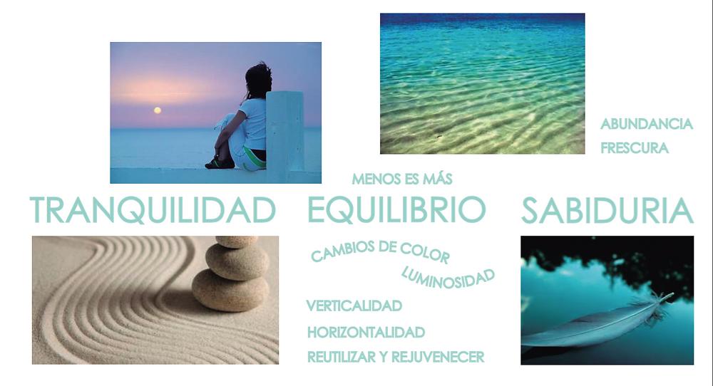 Conceptos de tranquilidad, equilibrio y sabiduría