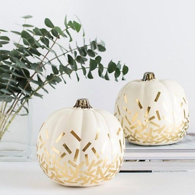 Calabazas decorativas en color blanco