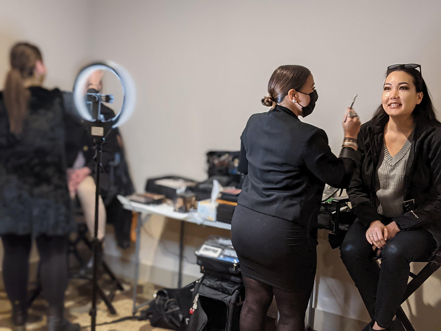 Maggie & Gabriela Makeup for Red Carpet Wedding Expo