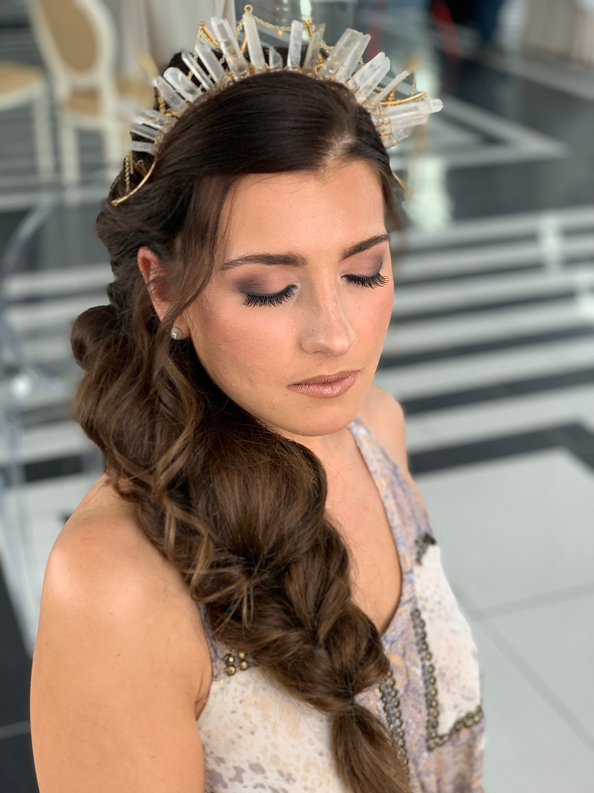 Hair by Kathryn, Makeup by Maggie
