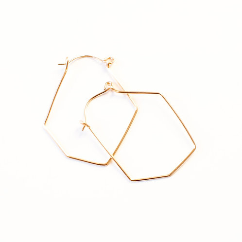 Sterling or Gold-Filled Geometrical Hoops