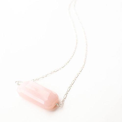 Sterling Rose Quartz Necklace