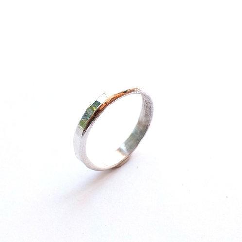 Sterling Silver Half-Round Ring