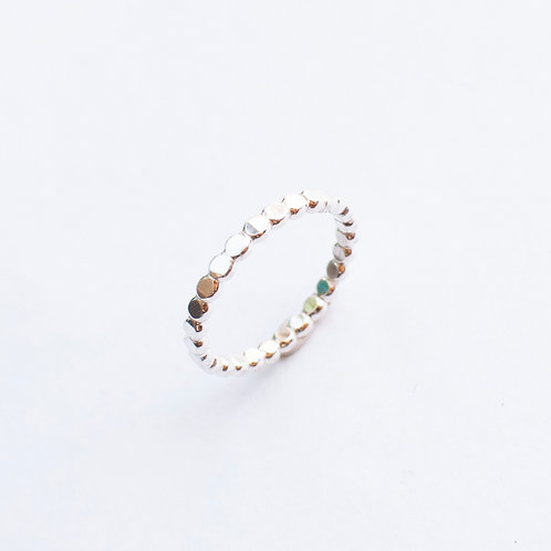 Sterling or Gold-Filled Hammered Scalloped Ring