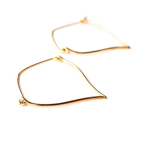 Sterling or Gold-Filled V Hoop Earrings