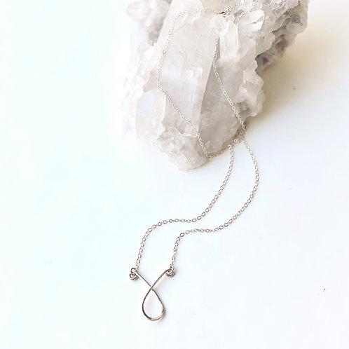 Sterling Silver Loop Necklace