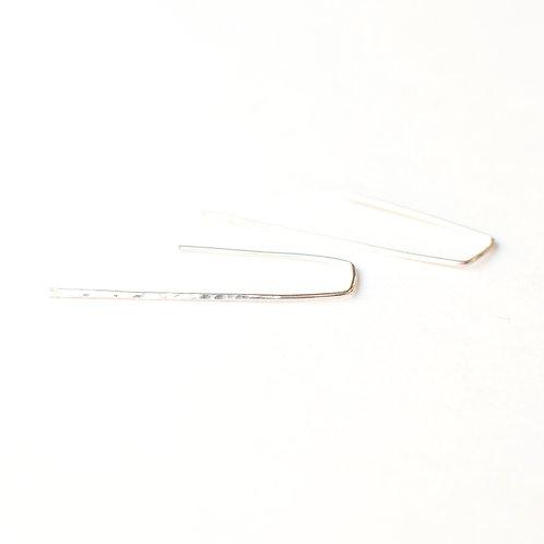 Sterling Hammered Minimalist Earrings
