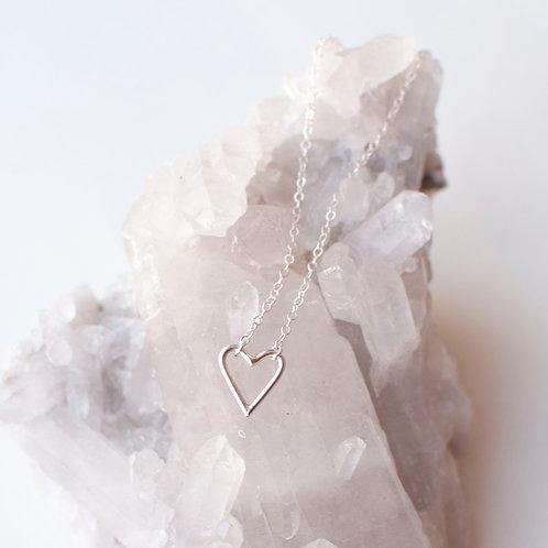 """Sterling Silver Heart Bracelet - Size 8"""""""