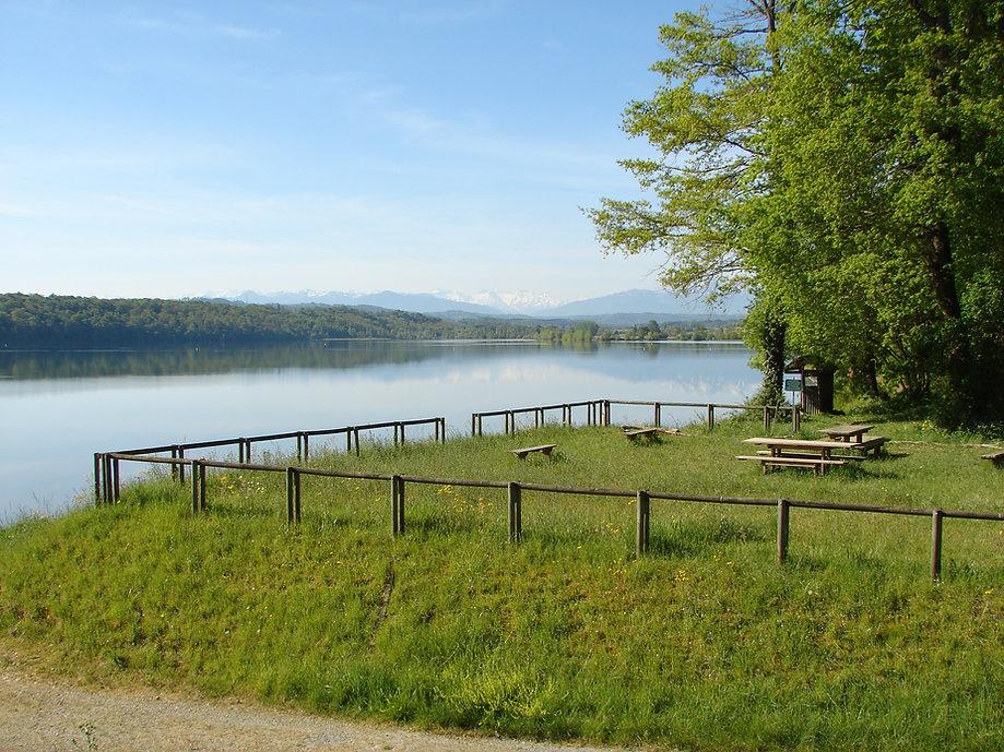 Lac pêche, réserve ornithologique