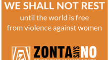 """ZONTA says NO"" to Violence"