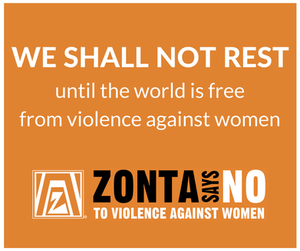 We Shall Not REST unitl the world is free from violence against women.