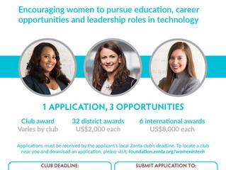 "Zonta International adds new ""Women in Technology"" Scholarship"