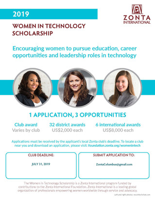 "Zonta International adds new ""Women in Technology"" Scholarship"
