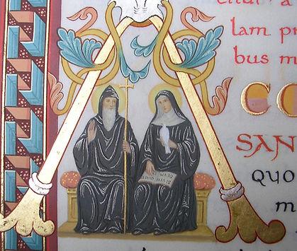 sainte Scholastique saint Benoît