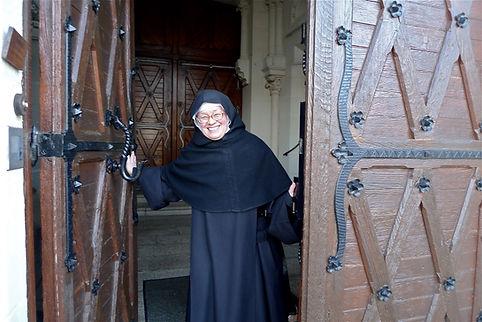 accueil à l'abbaye