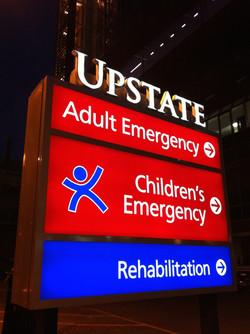 Upstate ED sign