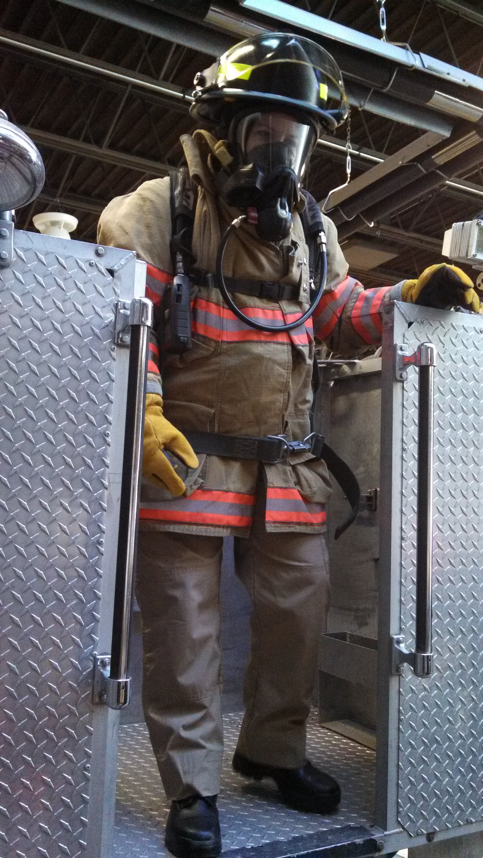 EMS fellow in bunker gear
