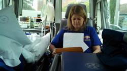 ASNSW Sue in ambulance
