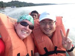 Brazil Erin in boat