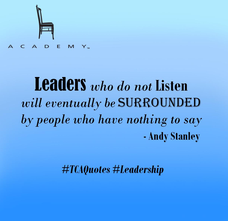 Leaders who do not Listen