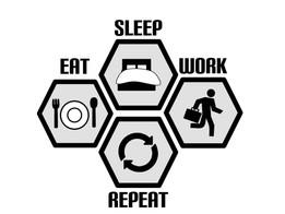 Tip 116:  Eat, Sleep, Work, Repeat