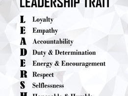 Friday Quotes: Leadership Trait