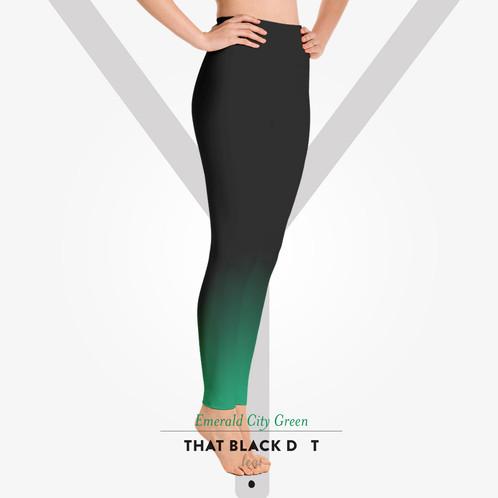 3c341ce37428f Emerald City Green Ombre Yoga Leggings - TBDOT Ombre Yoga Pants