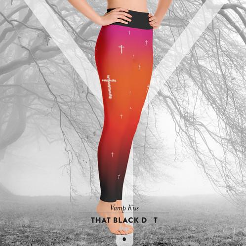 d2d4bb942bc8c Vamp Kiss Yoga Ombre Leggings - TBDOT Designer Yoga Pants Tights