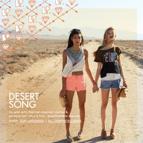 Desert Song - BP Juniors Campaign