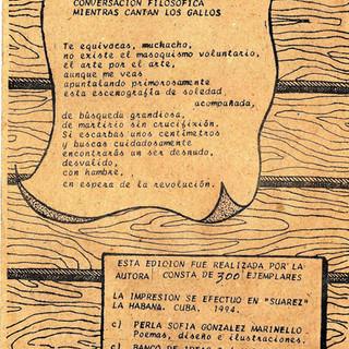 CONVERSACION FILOSOFICA MIENTRAS CANTAN LOS GALLOS