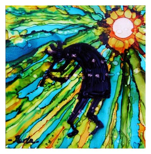 KOKOPELI AND SUN