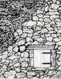 STONE WALL WITH MISTERY