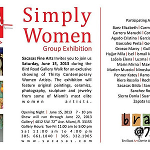4.SIMPLY WOMEN at Sacasas Art Gallery.