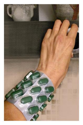 Bracelet with pills