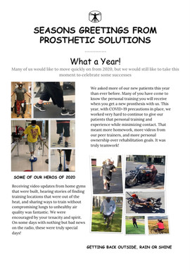 2020 A Year in Review: Prosthetic Solutions