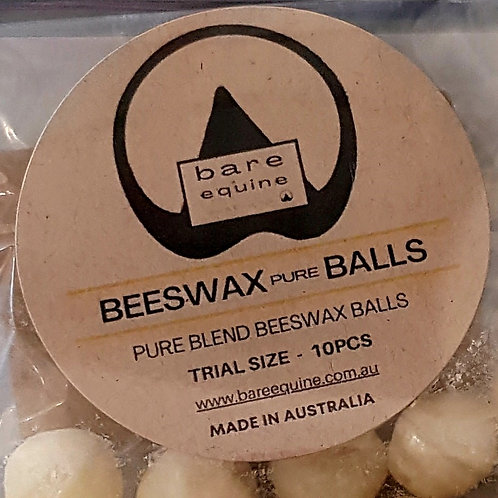BEESWAX Pure BALLS - TRIAL SIZE 10PCS