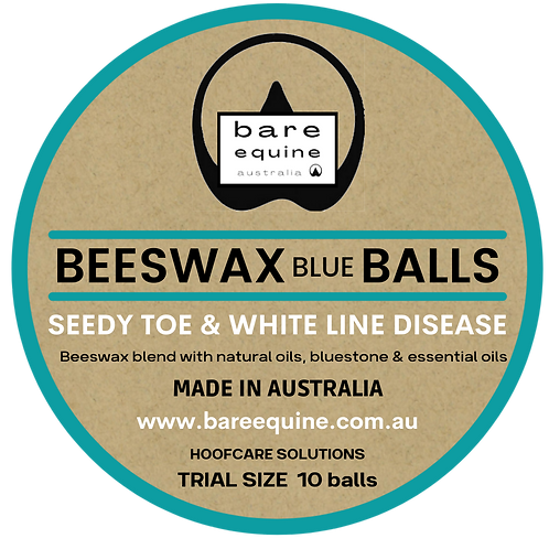 Beeswax BLUE Balls - Trial Size 10pcs