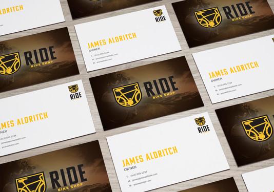 RIDE Bike Shop Business Cards