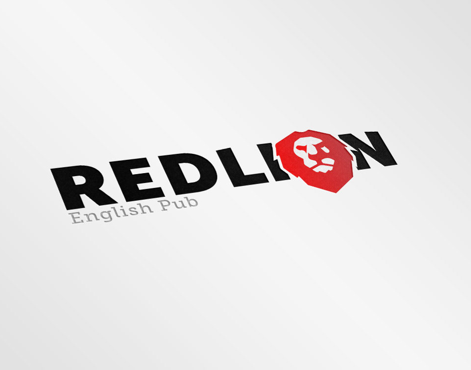 Red Lion English Pub Logo