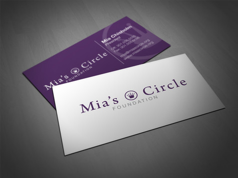 Mia's Circle Business Card
