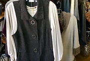 Fairtrade silk, cotton, and wool scarves, sweaters and hats. Fairtrade cotton blouses and dresses.